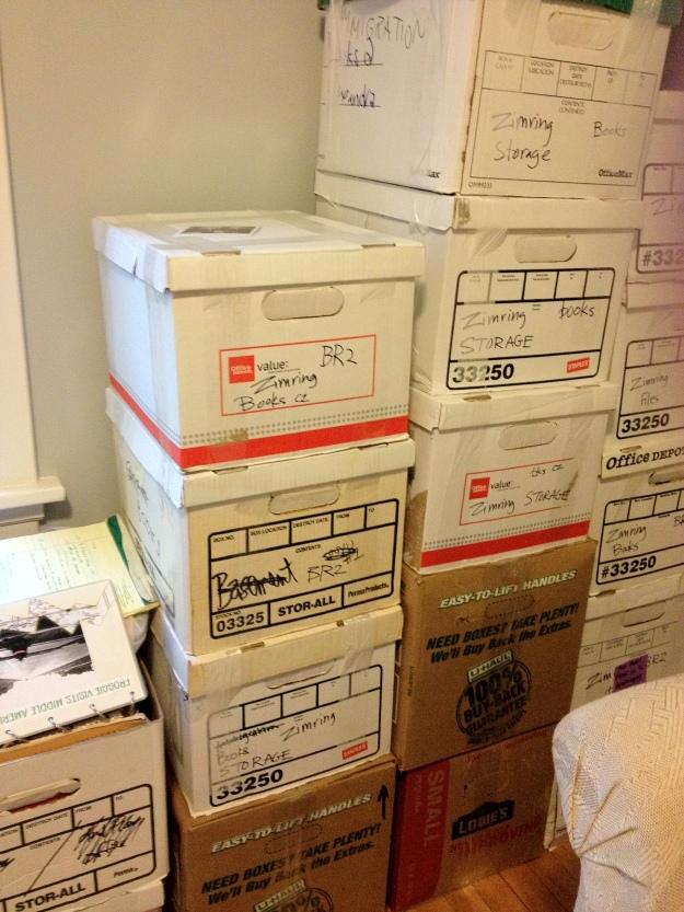 Storage awaiting transportation back East.