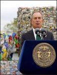 Mayor Bloomberg touting the expansion of recycling in 2004.  What will his successor do?  What should New Yorkers ask his successor to do?