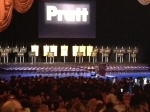 Shot of the Radio City Music Hall stage before the Pratt faculty walked onto it at graduation.