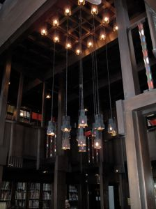 My attempt at capturing the beauty of Charles Rennie Mackintosh's library in the Glasgow School of Art, 2010.