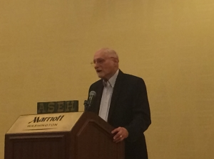 Joel Tarr receives ASEH's Distinguished Service Award, March 2015, Washington, DC.