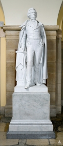 Statue of white supremacist and secession advocate John C. Calhoun on display in the U.S. Capitol Rotunda in 2015.